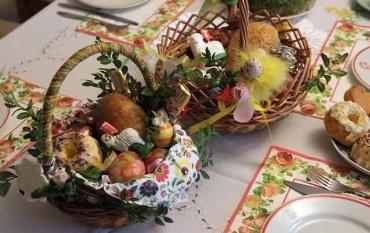 Modlitwa Błogosławieństwa pokarmów przed uroczystym posiłkiem w Niedzielę Zmartwychwstania Pańskiego